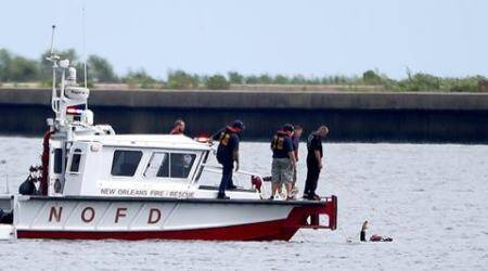 Plane found, 2 still missing after crash in New Orleans lake