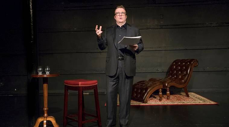 All the stage is the world: Nathan Lane performed in the play White Rabbit, Red Rabbit in New York earlier this year. (Source: The New York Times)