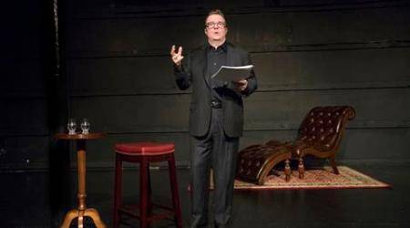 Nathan Lane in the play ÒWhite Rabbit Red RabbitÓ at the Westside Theater in New York, March 7, 2016. The enigmatic one-man show from the Iranian writer Nassim Soleimanpour is being performed, once weekly, by actors who are literally handed the script for the first time on stage Ñ Lane, Whoopi Goldberg, Brian Dennehy and Cynthia Nixon have all signed on for a turn. (Sara Krulwich/The New York Times)