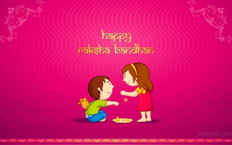 Happy raksha bandhan 2016 smses wishes whatsapp messages and send over this cute picture greeting to wish your sibling a happy raksha bandhan m4hsunfo