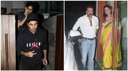Ranbir Kapoor dines with Ayan Mukherjee, Sanjay Dutt spend time with Maanyata