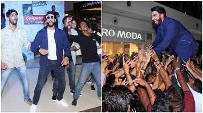 With his hyper energy, Ranveer Singh creates fan frenzy at Mumbai mall, see pics