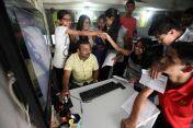 Students glued to computer as the HSC results published on Wednesday. Express Photo by Arul Horizon. 25.05.2016. Pune. *** Local Caption *** Students glued to computer as the HSC results published on Wednesday. Express Photo by Arul Horizon. 25.05.2016. Pune.