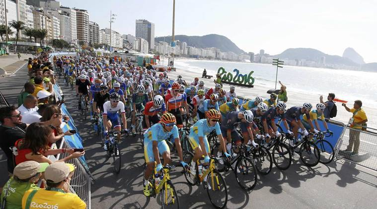 Men's road cycling race got underway in Rio on the opening day. (Source: Reuters)