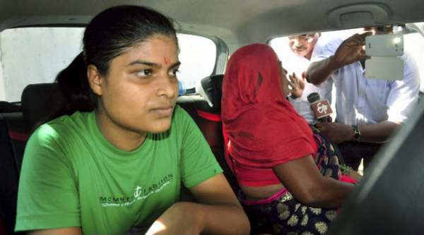 Rubi Rai, Victim of Bihar School Examination Board higher secondary exam topper scam release from Juvenile Home in Patna on Tuesday. PTI photo