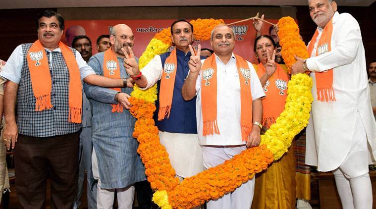 vijay rupani, who is vaijay rupani, vijay rupani profile, gujarat, gujarat chief minister, rupani swearing ceremony, nitin patel, rupani bjp, bjp gujarat, india news, gujarat news