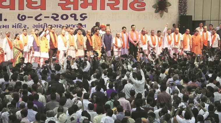 gujarat, gujarat elections, vijay rupani, new cm, gujarat new cm, new chief minister, cm vijay rupani, anandiben patel, gujarat government, indian express