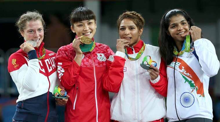 Wrestling - Women's Freestyle 58 kg Victory Ceremony