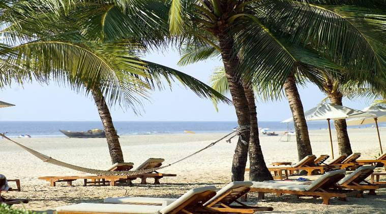 A private beach in Goa awaits sunbathers