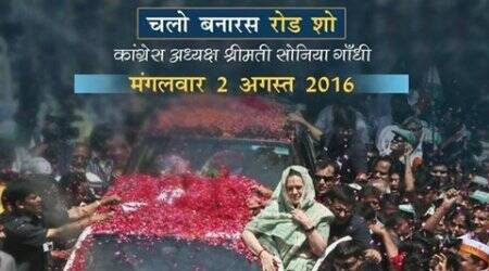 sonia gandhi, varanasi, varanasi road show, sonia gandhi roadshow, narendra modi, narendra modi varanasi, congress roadshow, congress roadshow varanasi, uttar pradesh elections, up elections, up assembly elections