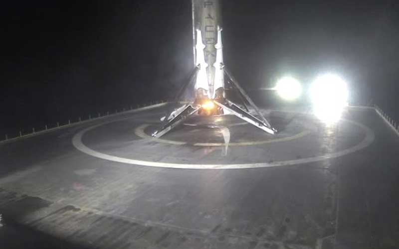 SpaceX Falcon 9 launches satellite, sticks ocean landing