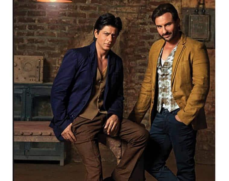 Shah Rukh Khan (left) and Saif Ali Khan in Ashish N Soni creation. (Source: Facebook/Ashish N Soni)