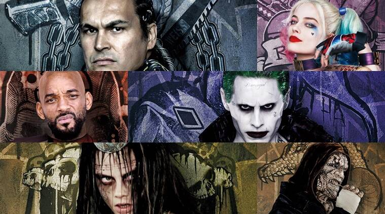 Suicide Squad, DC Comics, The Joker, Katana, Slipknot,Dr. June Moone/ Enchatress, Killer Croc, Diablo,Captain Boomerang, Harley Quinn,Deadshot Jared Leto, Will Smith