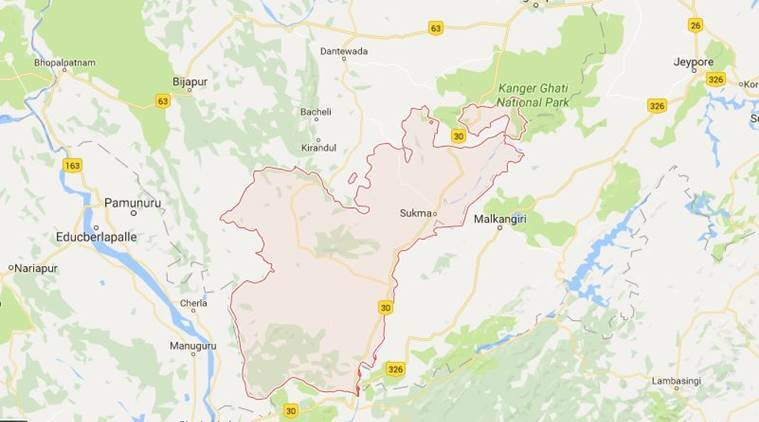 chhattisgarh, sukma district, naxals, maoists, vehicle burn, naxals light fire, indian express