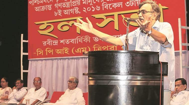 Surya Kanta Mishra, CPI(M), CPI(M) Surya Kanta Mishra, West Begal, West bengal bypolls, Poll campaign, Tapasi Mishra, west bengal news, india news, indian express news