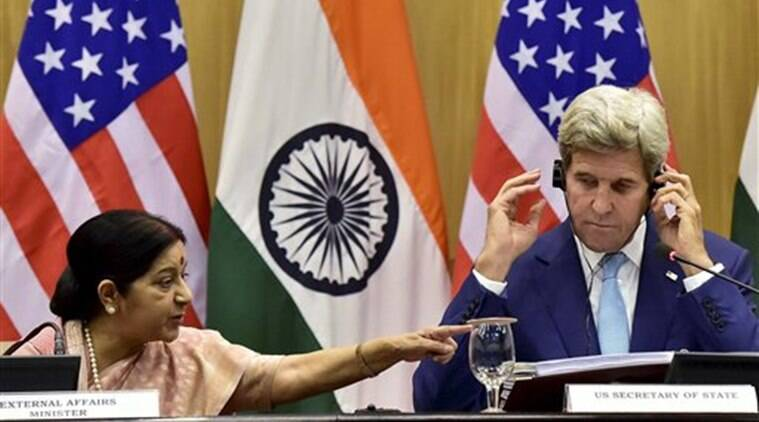 India, US, Indo US, Indo-US, India-US, India US, John Kerry, Sushma Swaraj, Cyber, joint cyber framework, counter-terrorism, terrorism, India news