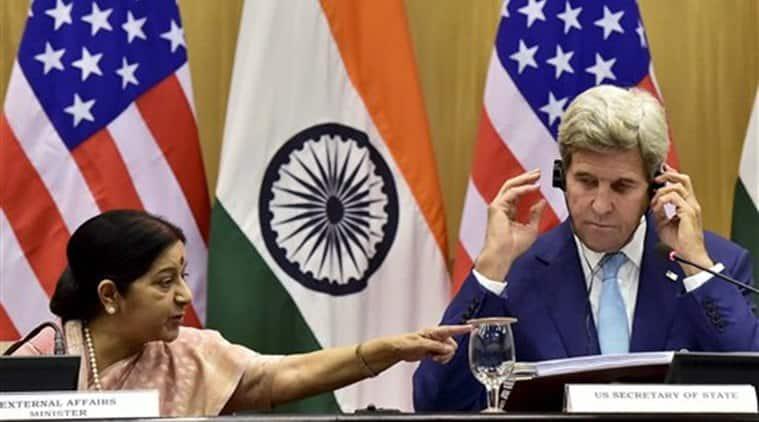 India, US, Indo US, Indo-US, India-US, India US, John Kerry, Sushma Swaraj, Cyber, joint cyber framework, counter-terrorism, terrorism, India news