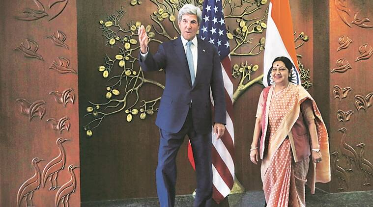 john kerry, sushma swaraj, united state, pakistan, pakistan india relations, india pakistan relations, islamabad isolation, uri attack, kashmir attack, pakistani terrorists, soldiers killed, saarc summit, islamabad saarc summit, saarc summit cancel, pakistan india tesnion, india pak tensions, indus water treaty, india pak water treaty, indian express news, india news