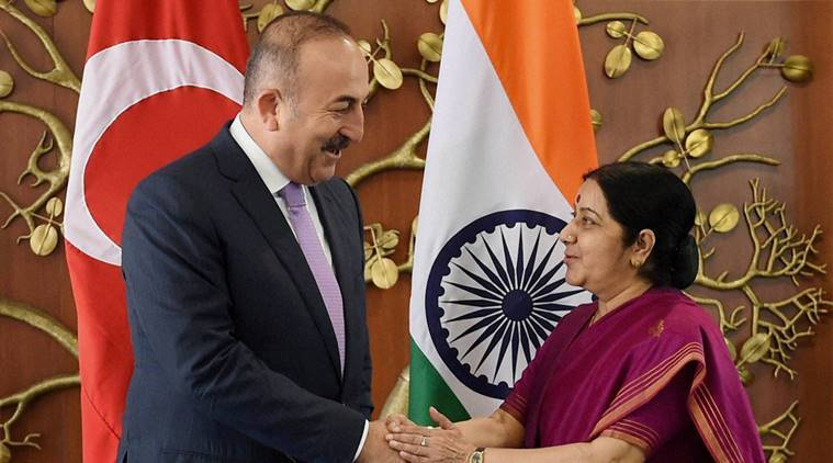 Sushma Swaraj, Erdogan, turkey, india, india turkey, Fethullah Gulen, turkey coup, turkey coup india impact, turkey coup impact, turkey president, Mevlut Cavusoglu, india news