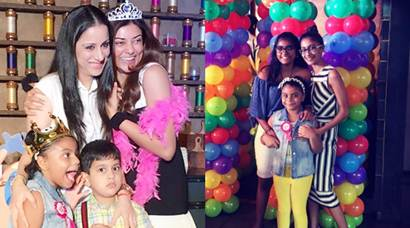 Sushmita Sen is a kid herself at birthday party of daughter Alisah, see pics