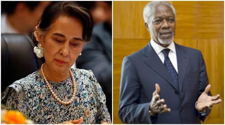 myanmar, myanmar news, aung san suu kyi, suu kyi, kofi annan, UN chief Kofi annan, ex UN head kofi annan, rakhine state, rohingya muslims, rakhine violence, buddhist violence, rohingya budhhist clashes, rohingya refugees, world news