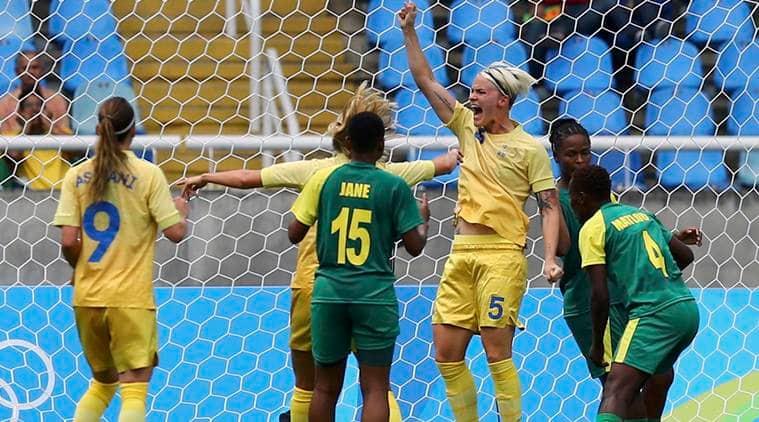 Rio 2016 Olympics, Rio 2016 Olympics news, Rio 2016 Olympics updates, Sweden South Africa, Nilla Fischer, Nilla Fischer goal, Nilla Fisher Sweden, sports news, sports, football news, Football