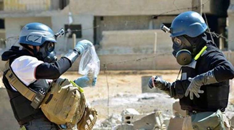 syria, syria chemical weapons, syria war, chemical weapons syria, syria government chemical weapons, syria gas attack, syria gas attack enquiry, syria news, world news, indian express news