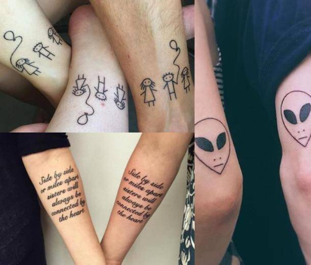 photos because we are family siblings show their love with matching tattoos the indian express. Black Bedroom Furniture Sets. Home Design Ideas