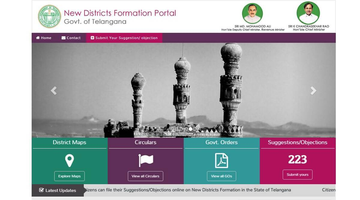 Telangana issues draft notification for reorganisation of districts