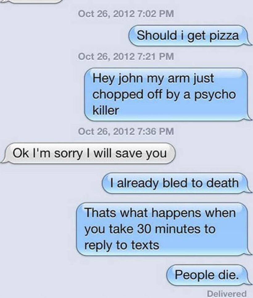 how to respond to someone who doesn t text back