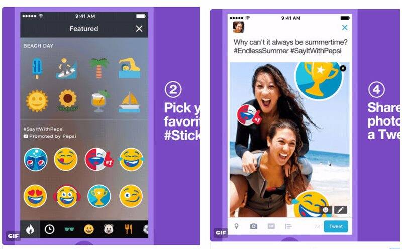 twitter, twitter promoted stickers, twitter pepsi stickers, twitter pepsimoji, #stickers, twitter new stickers, snapchat stickers, social media, technology, technology news