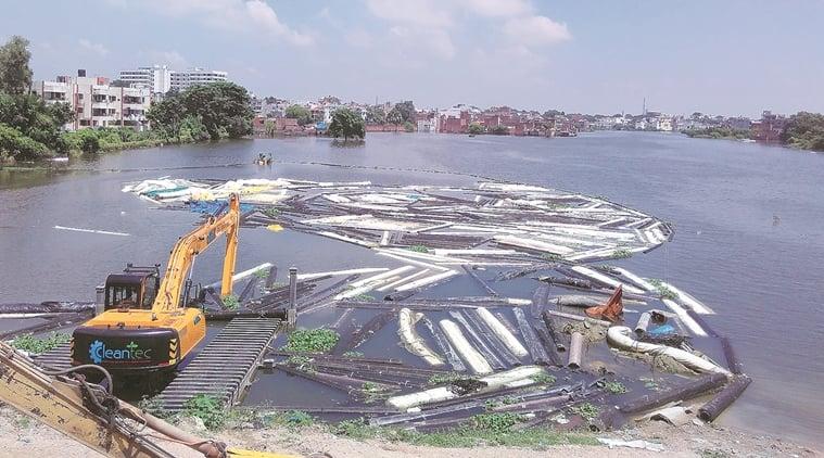 varanasi flood, flood, flood in varanasi, uttar pradesh elections, up polls, akhilesh yadav, CM Yadav, CM akhilesh yadav,  varuna riverfront corridor, indian express news, india news, elections updates
