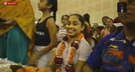 Dipa Karmakar Gets Grand Welcome On Home Coming