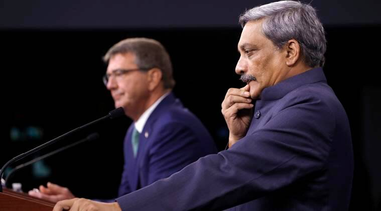 manohar parrikar, India US, Indo US trade, India US defence pact, India US logistics pact, India US agreement