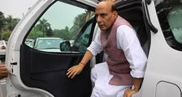 Union Home minister Rajnath singh at the Parliament House in New Delhi on Wednesday. Express Photo by Prem Nath Pandey. 27.07.2016. *** Local Caption *** Union Home minister Rajnath singh at the Parliament House in New Delhi on Wednesday.