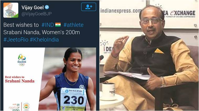 Image result for vijay goel rio olympic twitter