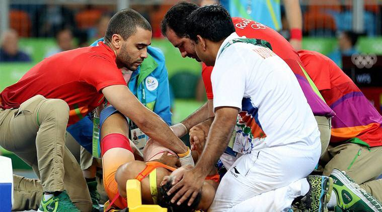 Indian Medical team Rio, Indian medical team Rio 2016 Olympics, India medical team Pawandeeo Singh, Chief Medical Officer India, Indian Olympic Association, IOA, Vinesh Phogat, Vinesh Phogat injury, Phogat stretchered off, India at Rio 2016 Olympics, Rio 2016 Olympics, Rio Olympics, Rio, Olympics