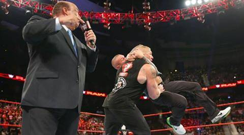 Wwe Monday Night Raw Results Brock Lesnar Surprised On