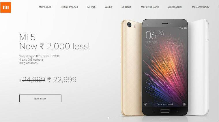 xiaomi, xiaomi mi 5, xiaomi mi 5 price cut, xiaomi mi 5 Flipkart, mi.com, xiaomi mi 5 India price, xiaomi mi 5 review, xiaomi mi 5 price, xiaomi mi 5 features, xiaomi mi 5 specifications, redmi note 3, smartphones, technology news