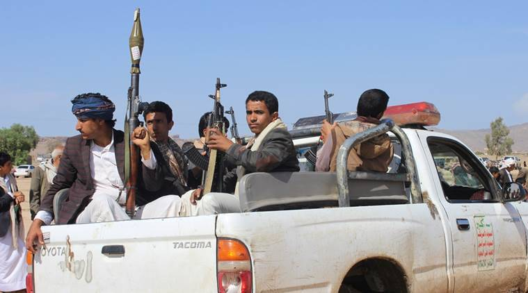Members of the Houthi movement patrol an area near a tribal gathering held to show support to the movement in the northern city of Saada, Yemen August 2, 2016. REUTERS/Naif Rahma