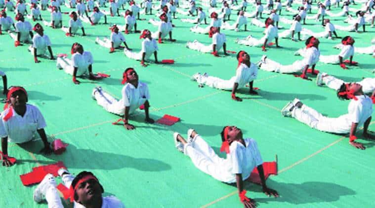 BMC, bmc school, surya namaskar, Surya namaskar must at BMC schools, Surya namskar BMC schools, BJP, BJP proposal, bmc school yoga, yoga at bmc school, Samajwadi Party, Samajwadi Party oppose, bjp, indian express news, mumbai news, india news