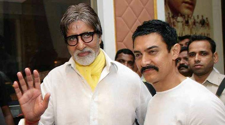Image result for Big B and Aamir Khan