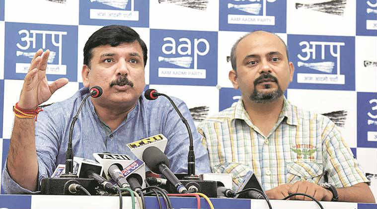 punjab elections, punjab, AAP, defamation, AAP MLA, defamation suit, Sanjay Singh, Durgesh pathak, devender sehrawat, court, defamation case, punjab elections news, india news, indian express