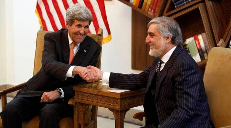 Afghanistan, Afghanistan unity deal, unity government, Ashraf Ghani, Abdullah Abdullah, John Kerry, 2014 Afghan peace deal, Afghanistan government, Afghanistan news, world news, latest news, Indian express