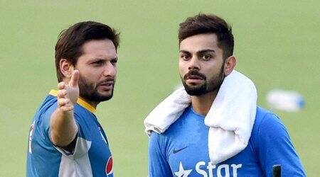 Hope Not Out: Virat Kohli donates signed bat to Shahid Afridi Foundation