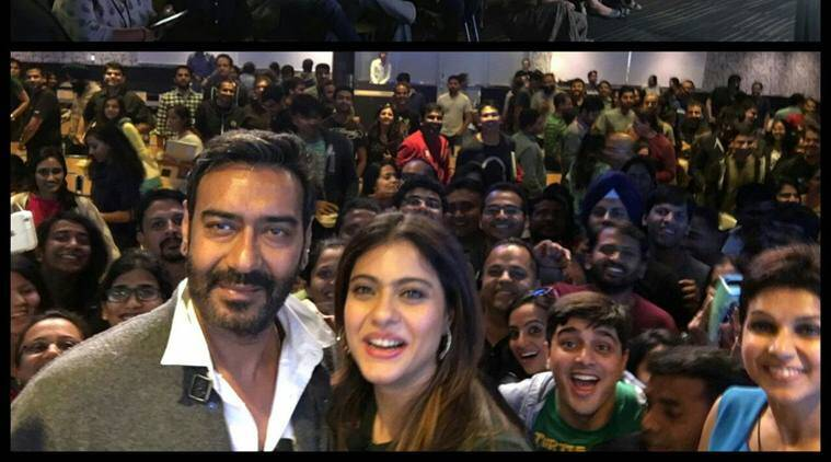 Ajay Devgn and Kajol visited the Facebook campus here. Kajol has also joined the social networking site.