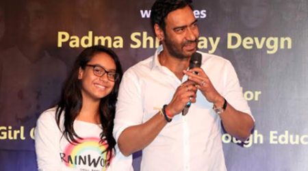 Ajay Devgn launches campaign with daughter Nysa, reveals she 'mothers him'. See pics