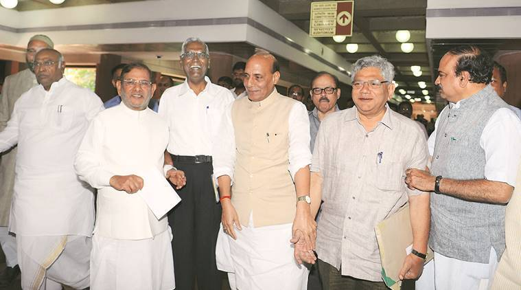 kashmir unrest, kashmir issue, kashmiri demands, union territory status, ut status for leh, kashmir all party meet, all party delegation, J&K assembly, separatists, discussion with separatists, UT status to leh, hurriyat, separatists, action against separatists, kashmir security, security of kashmir, rajnath singh, kashmir debate, kashmir all party talk, indian express news, kashmir news, all party meet updates, india  news