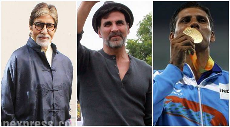 Devendra Jhajharia, Rio Paralympics, Paralympics Rio2016, Devendra Jhajharia wins gold, Devendra Jhajharia wins gold at Rio Paralympics, Amitabh Bachchan, Akshay Kumar, Anushka Sharma, Entertainment, indian express, indian express news