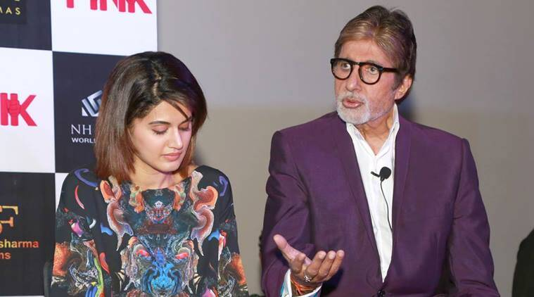Pink, Pink movie, Pink Amitabh Bachchan, Pink BIg B, Amitabh Bachchan, Amitabh Bachchan Pink movie, Big B, Amitabh Bachchan Pink film, Pink film, Amitabh Bachchan in pink, Entertainment, Indian express, indian express news